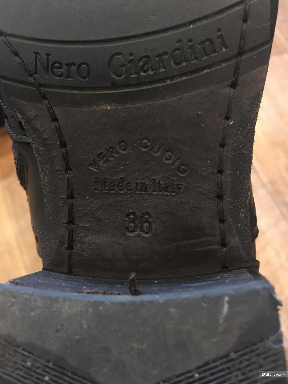 Кожаные,итальянские сапоги 36рNero Giardini