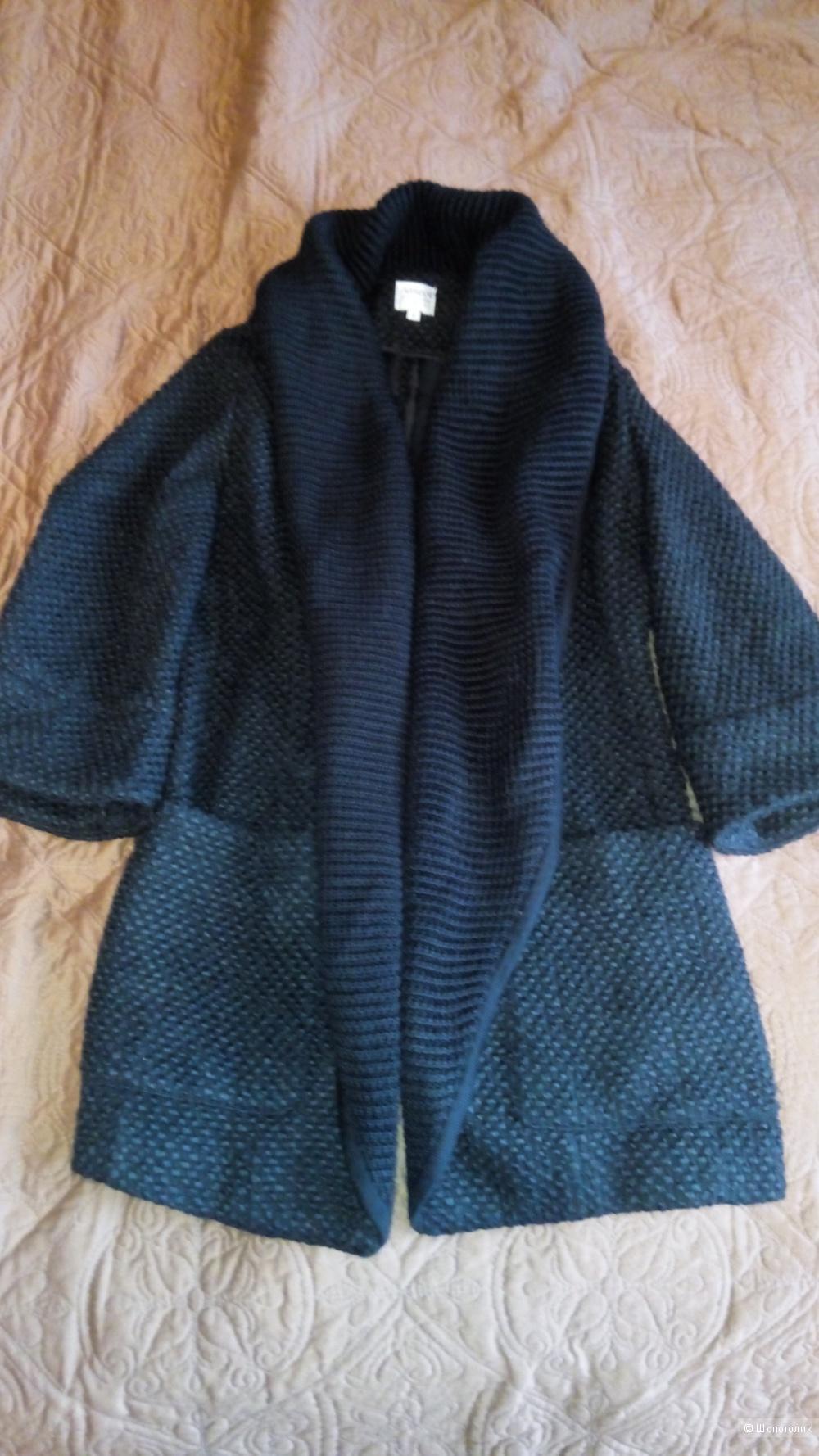 Вязаное пальто, кардиган-пальто, размер S