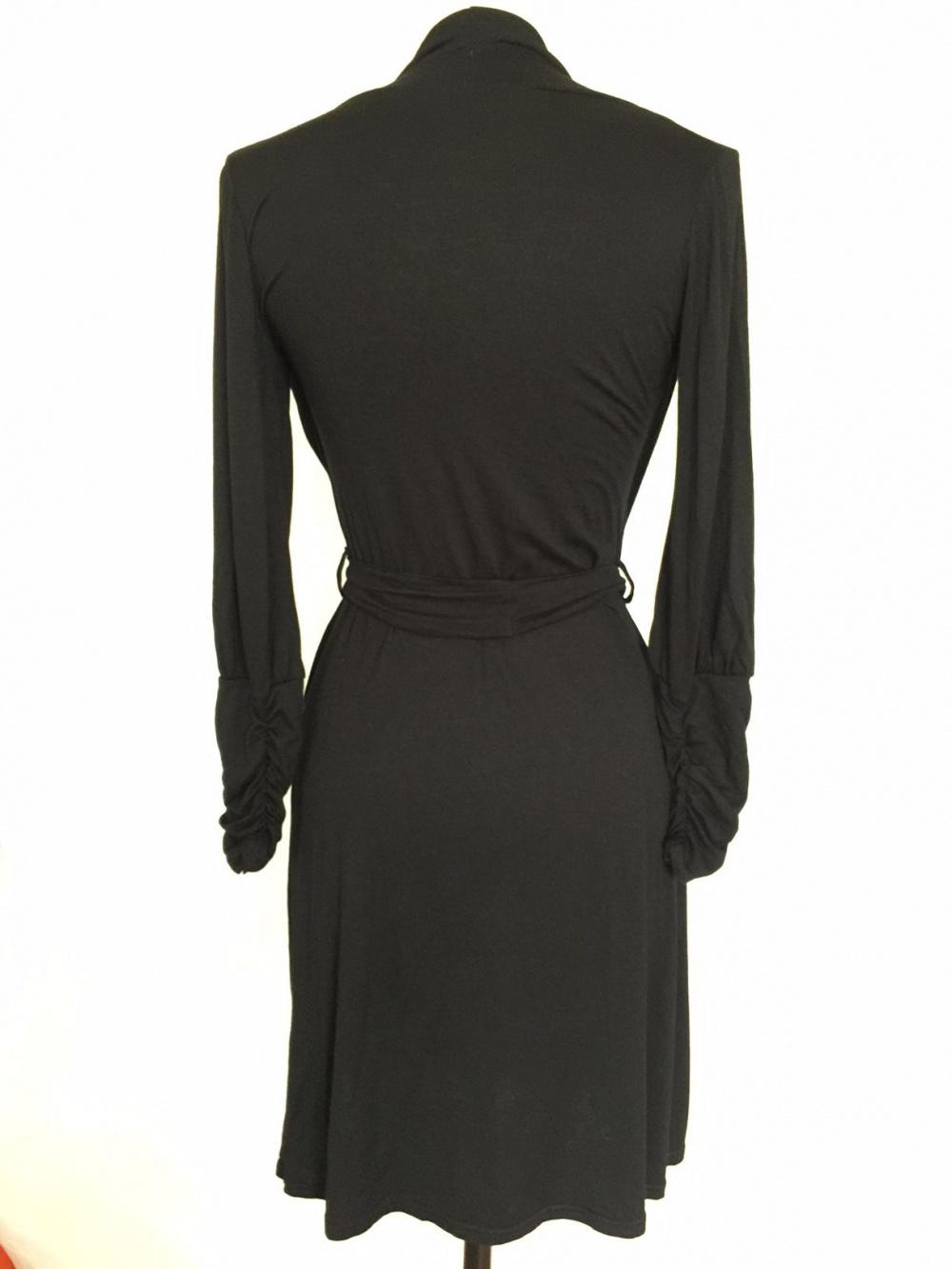 Черное французское трикотажное платье марка Malle Demoiselle  размер 42-44