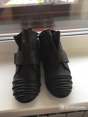 Кожаные женские ботинки, 23 см