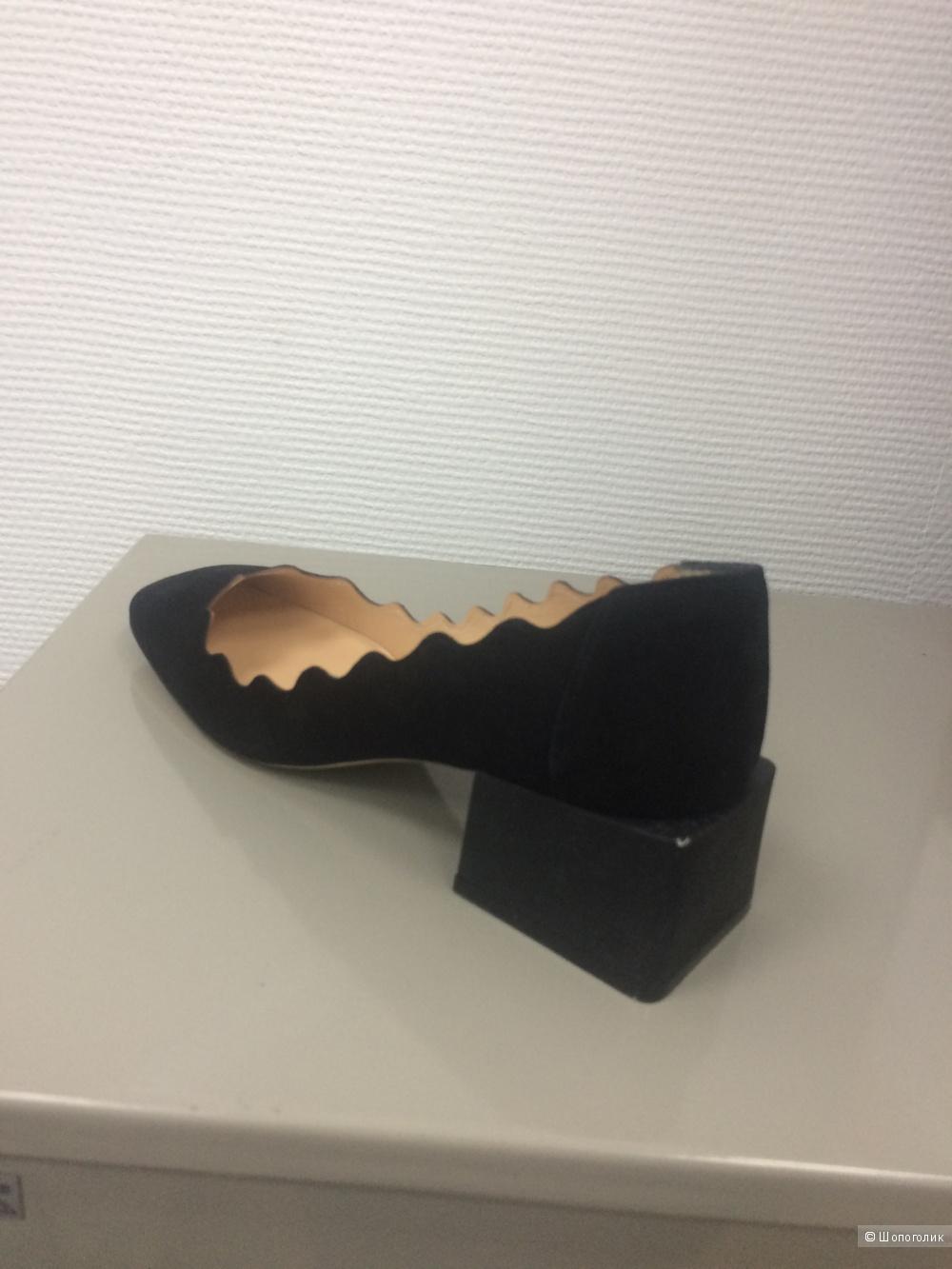 Необычные замшевые туфельки
