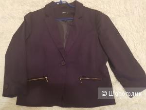 Жакет  трикотажный M&Co фиолетовый, UK 12, 48 р.