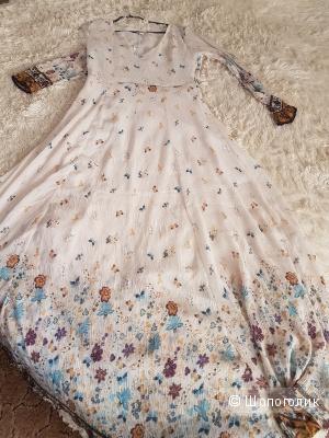 Платье макси с принтом в стиле фолк  Glamorous Petite 46 р.