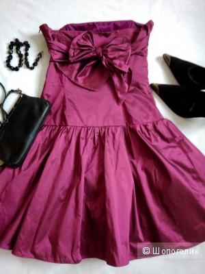 Вечернее коктейльное платье Vera Mont вино-ягодного цвета р42