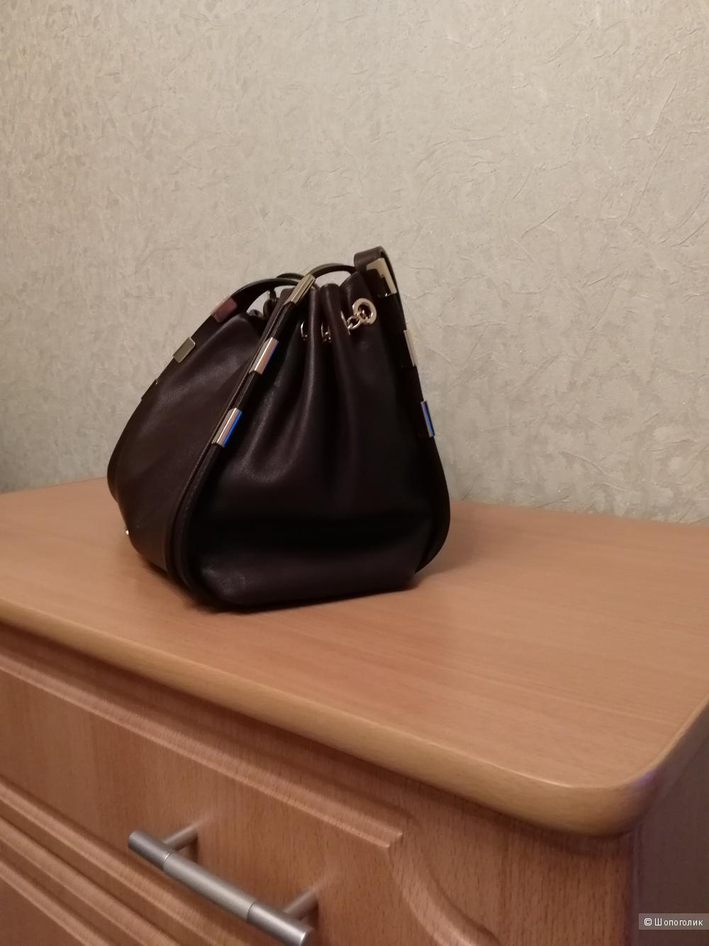 Кожаная сумка NV,  цвет коричневый