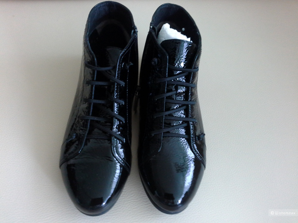 Стильные лаковые ботинки,  размер 36