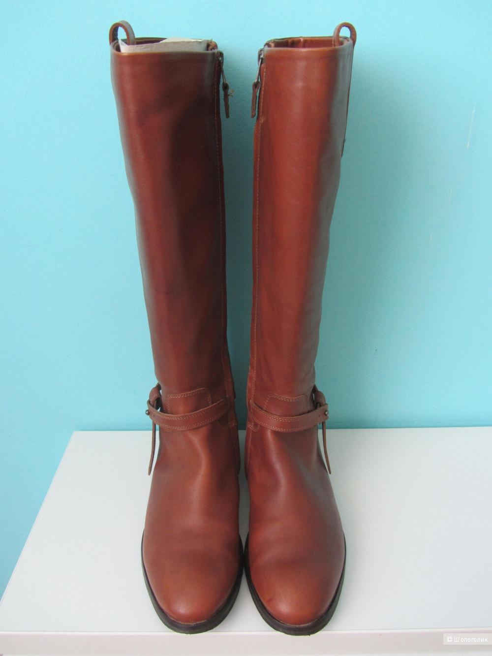 Кожаные сапоги Andrea Morando, размер 38,5