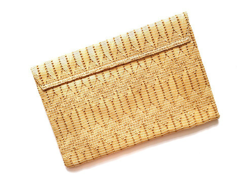 Клатч ASOS Weave Metal Bar Clutch, новый