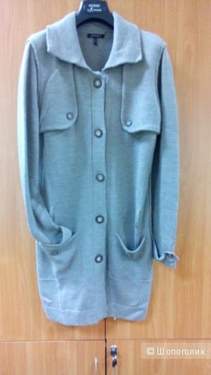 Кардиган-пальто длинный с поясом трикотаж(50 процентов шерсть) APART Германия в размере 40D 14 GB(46-48 росс)