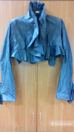 Курточка-болеро стального цвета на крючках BABILON Италия в размере 44 IT(46-44)