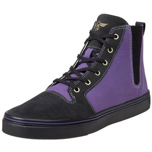 Высокие мужские кожаные кеды Recreation PONTI Select Black Grape 42,5 размер