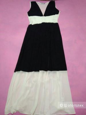 Платье чёрное-белое, La Coquette,46 размер