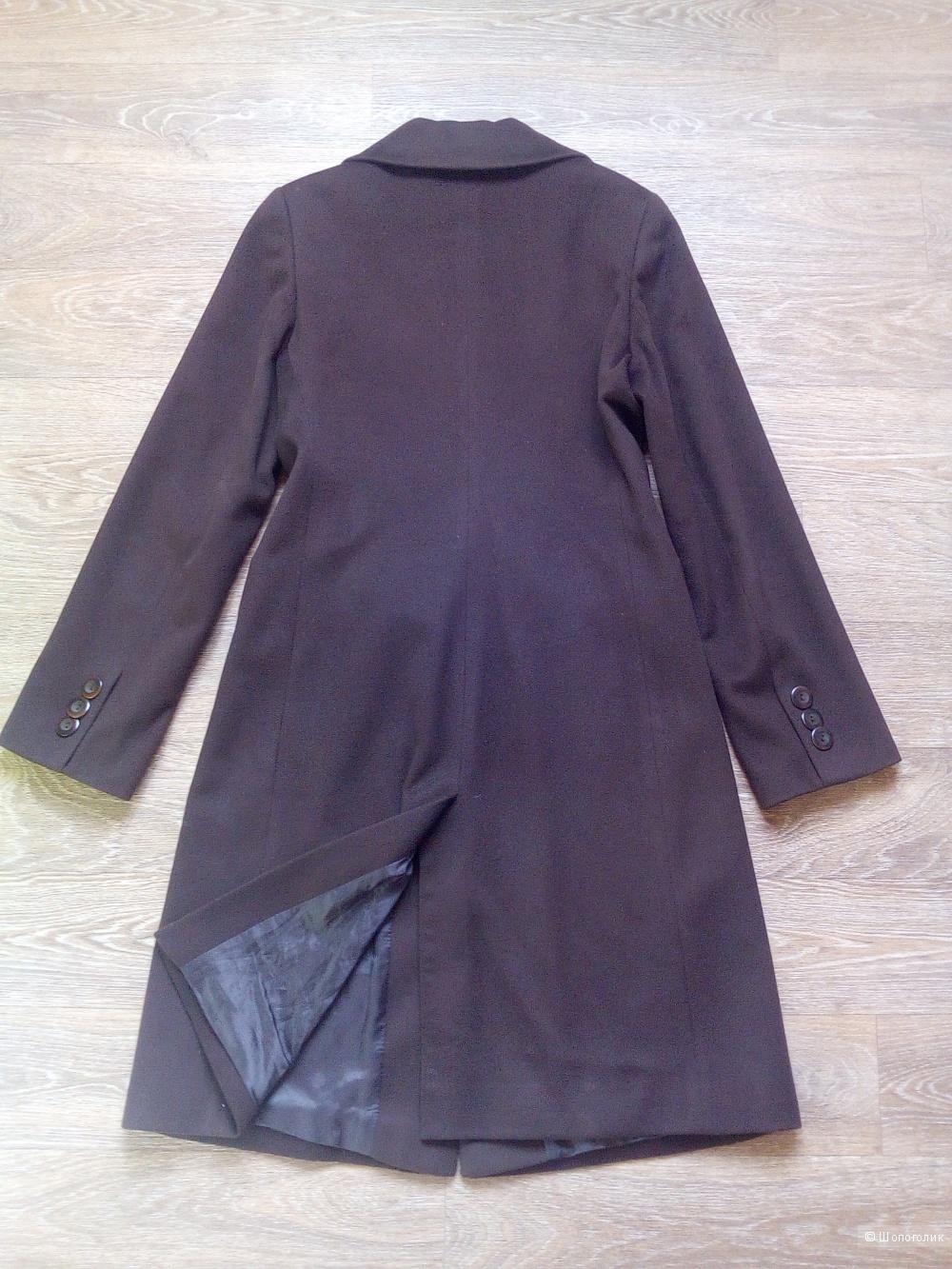 Итальянское пальто Samos. Темный шоколад, 46 размер