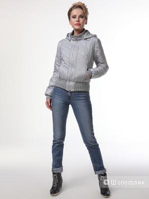 Куртка, DizzyWay 46 размера, светло- серого цвета.