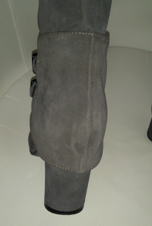 Сапоги замшевые тёмно-серые  ALBA, размер 38