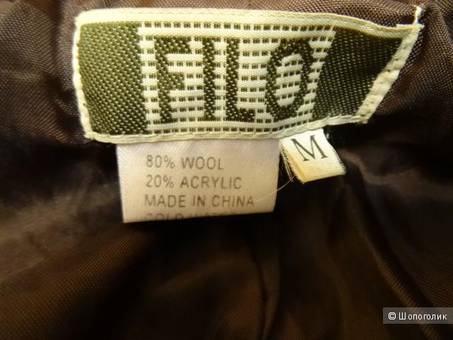 """Пальто со съёмным мехом """"Filo"""", размер 44, б/у"""