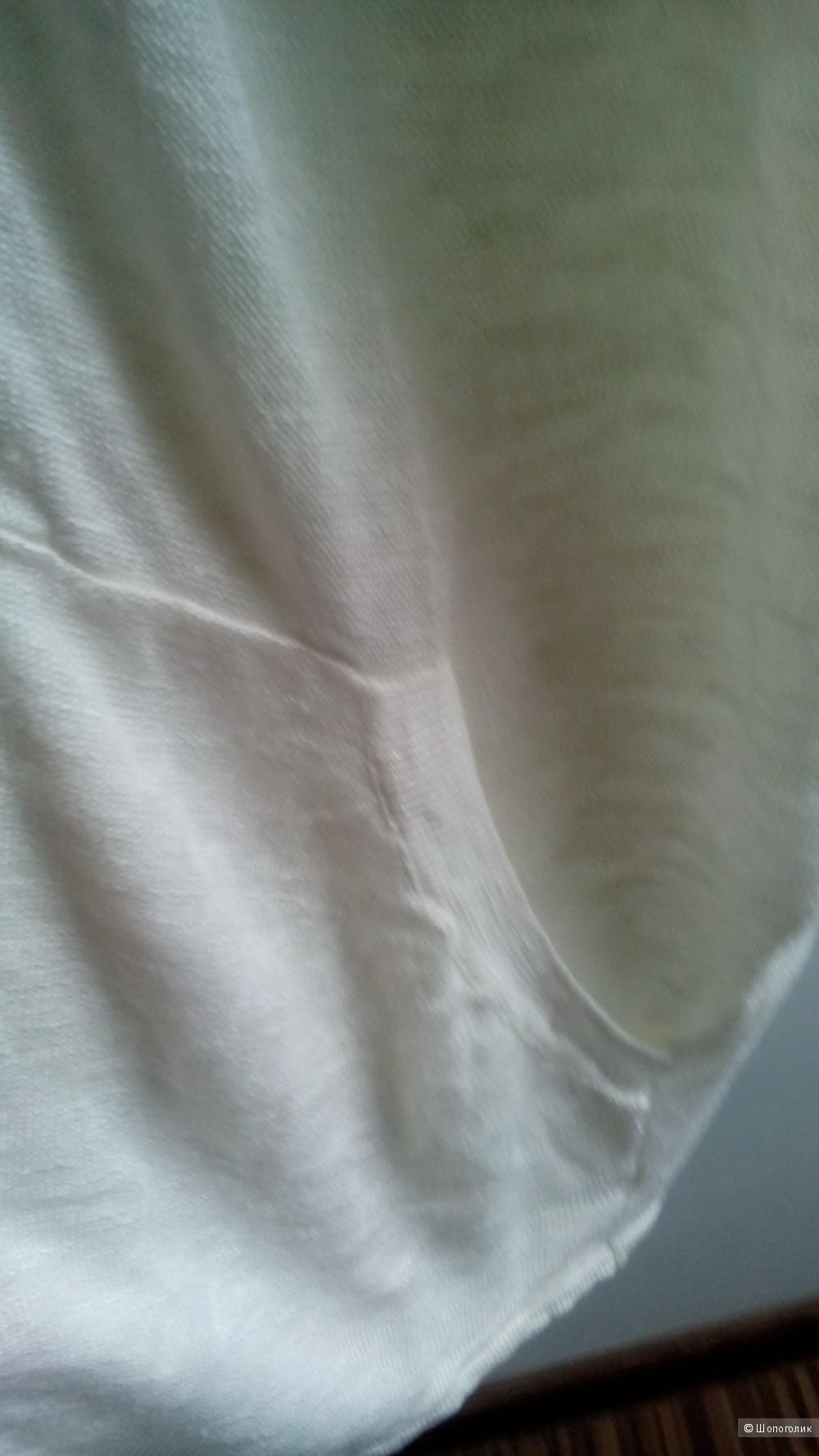 Кардиган трикотажный теплого белого цвета(лен-вискоза) BARBARA ALVISI  Италия (44-46-48)