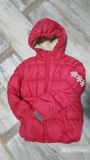 Теплая куртка для девочки, рост 116