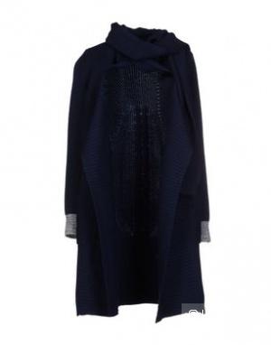 Кардиган вязаное шерстяное пальто Paul Smith Black, темно - синее, размер S