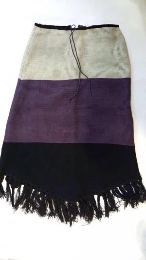 Вязаная теплая юбка. Р. 42-44