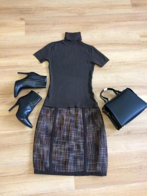 Новая юбка р-р 44, коричневого цвета.
