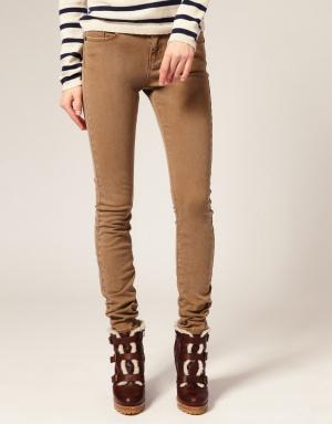 Джинсы ASOS Washed Camel Skinny Jeans, размер UK6 (25-26), новые