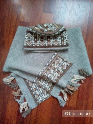 Комплект шапка и шарф Австралия (альпака-шерсть)