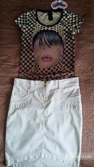 Сет из двух вещей, юбка Paola Frani, топ Gusto Barcelona, xs