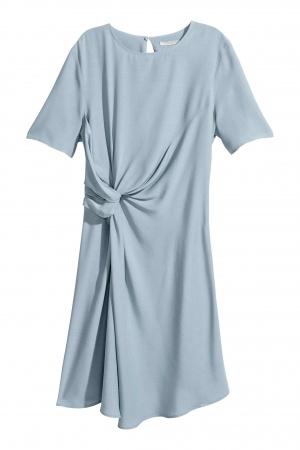 Платье H&M, серо-голубое, 36 размер