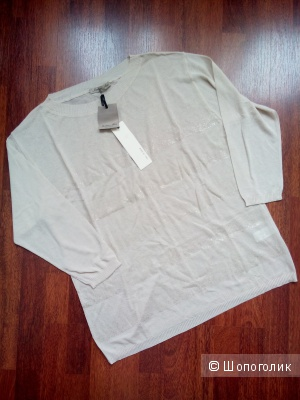 Пуловер-блузка рукав 3\4 BARBARA ALVISI Италия в размере M(44-48) кремового цвета.