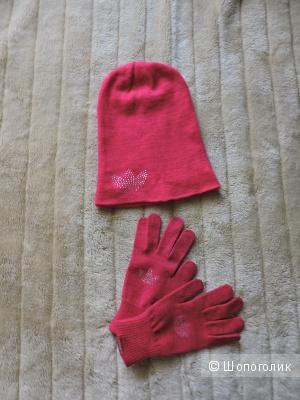 Adidas original комплект шапочка и перчатки.Один размер.