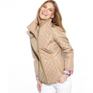 Куртка  Jessica Simpson Floral-Lined Quilted Jacket  размер XL