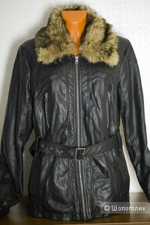 Куртка женская, кожаная, размер 50-52