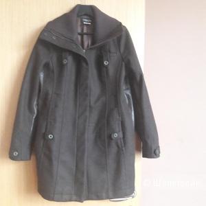 Пальто шерсть кашемир кожа Patrizia Pepe размер 46-48