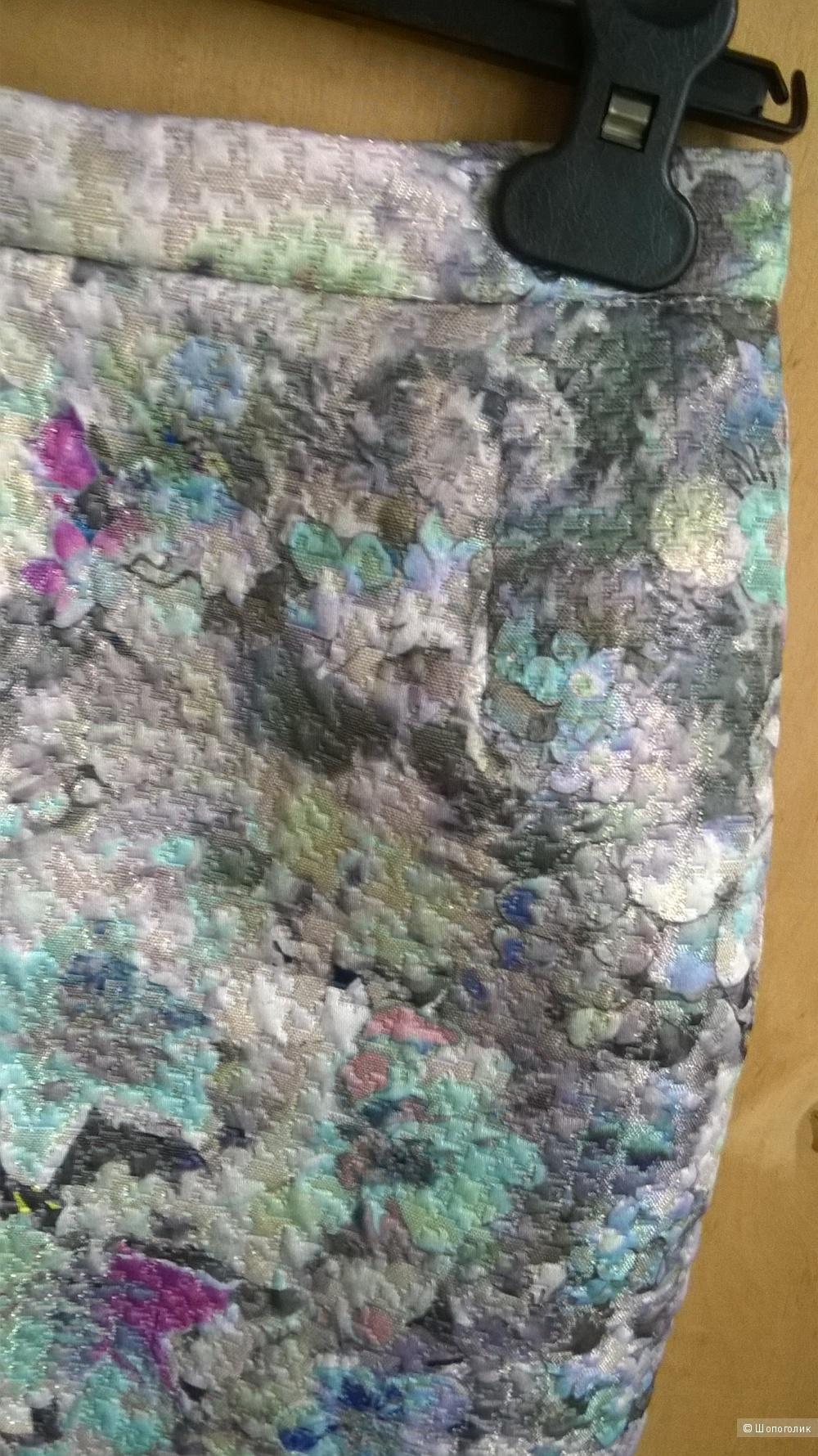 Юбка цветной принт р.44 (S)  б/у