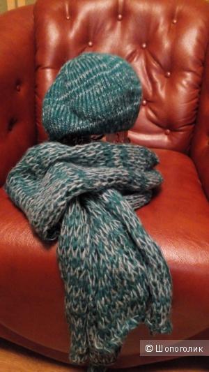 Шапка-берет и шарф, комплект Mexx