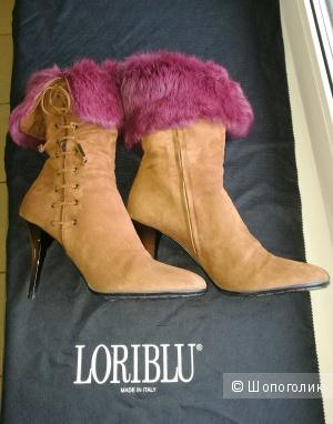 Зимние сапоги LORIBLU, замшевые, 39 размер