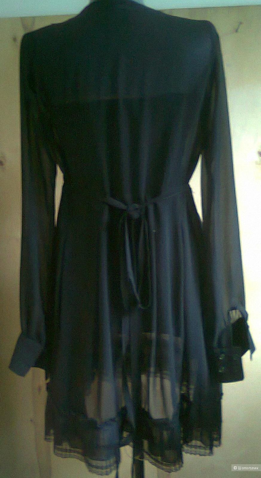 Платье DENNY ROSE ИТАЛИЯ  р.S б/у  из шифона на подкладном футляре-чехле