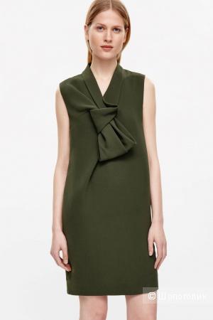Платье COS, цвет темный хаки, размер 40 (европейский)