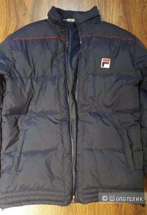 Мужская пуховая куртка-пуховик в машину FILA.  р.L