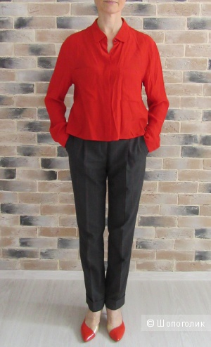 Брюки Roberto Verino (размер М) и блузка Mango ( М )