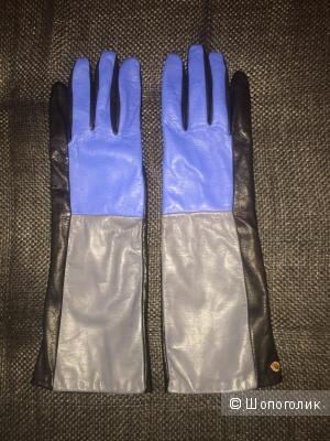 Высокие перчатки из мягкой кожи Furla размер L