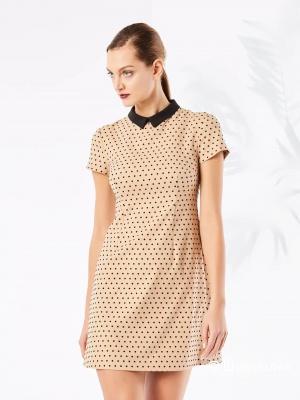 Платье в крапинку Mohito размер 44/46 СЕРОЕ