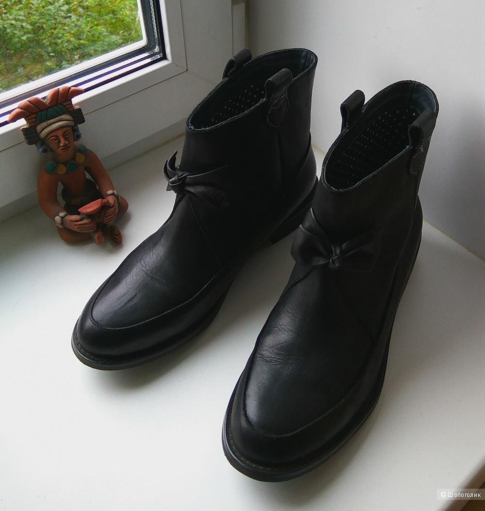 Английские черные кожаные осенние сапожки F-troupe р.UK 5