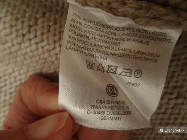"""Тёплая кофта """"Yessika"""", размер 42-44, б/у"""