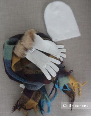 Комплект аксессуаров: шапка+ шарф+перчатки