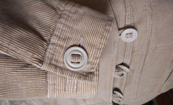 Куртка бежевая вельвет Ostin (размер L)