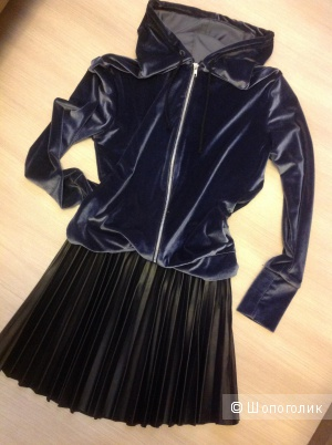Комплект ( юбка/New Look + худи/Boohoo Velvet ), разм. 42 рос. ( 44?)