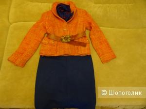 Шерстяной пиджак, размер 42-44, б/у