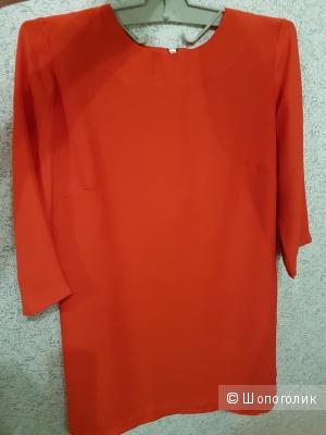 Платье ASOS красного цвета с рукавом 3/4, р. М